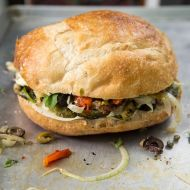 The Pressed Picnic Sandwich with Tapenade—Vinaigrette