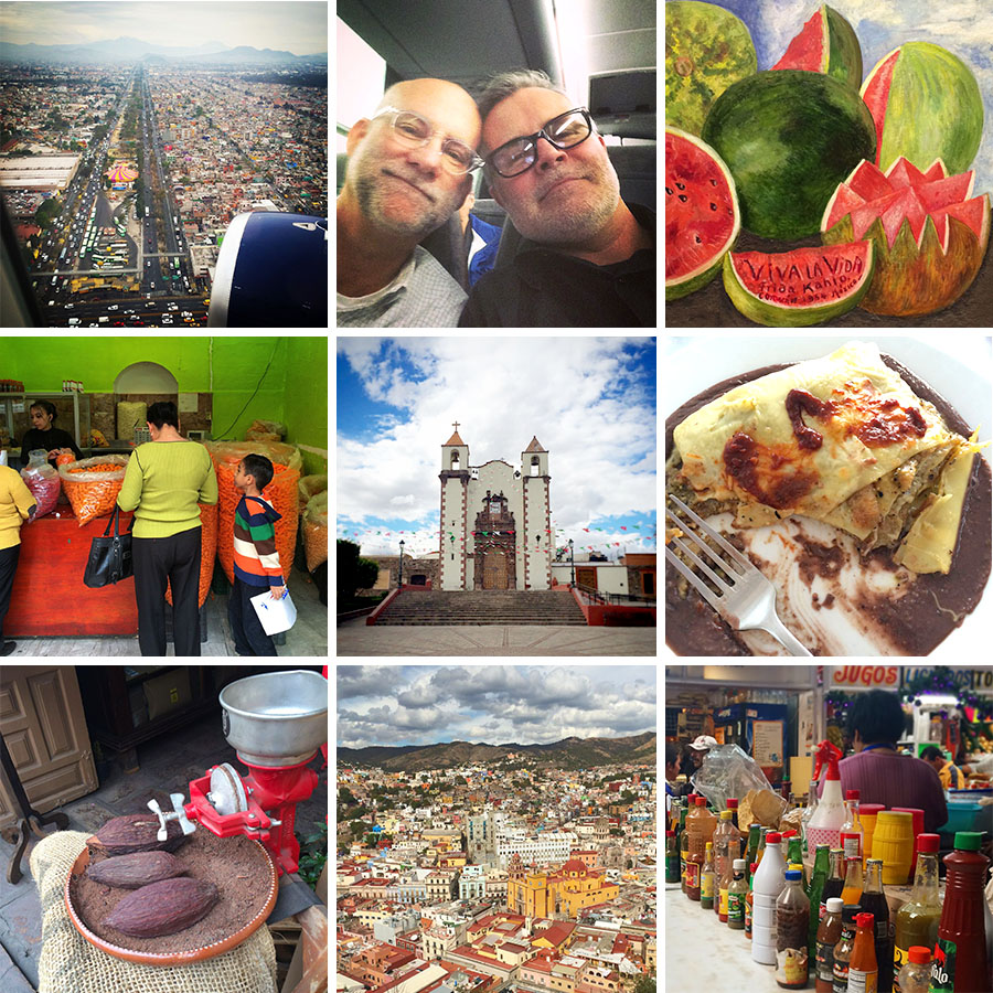 snapshots of our trip to Mexico, landing in Mexico City, Frida Kahlo Viva Vida, San Miguel de Allende, Guanajuato